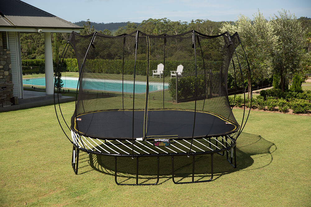S113 Large Square Trampoline 11 Foot Trampoline Outdoor