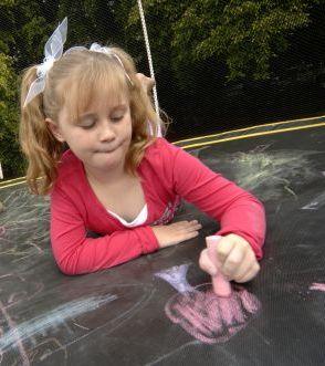 Springfree Trampoline - World's Best Chalkboard