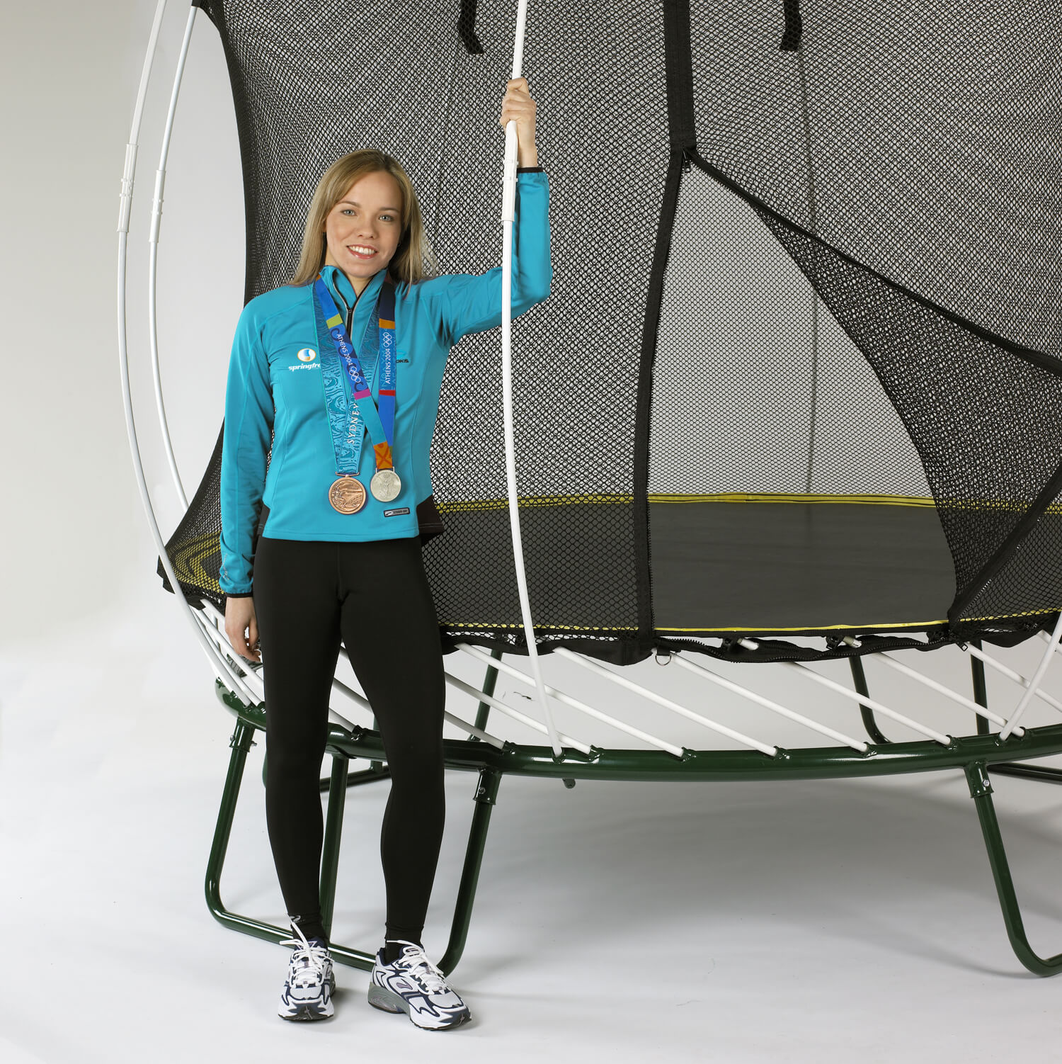 Karen Cockburn attended in the awards ceremony but also gave everyone a demo on the Springfree Trampoline