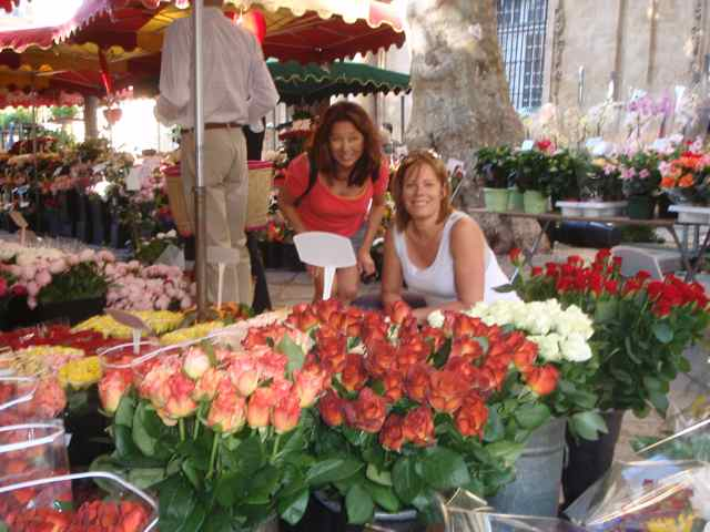 Amazing flowers in the market