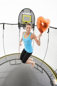 Hayley Lewis on a Springfree Trampoline