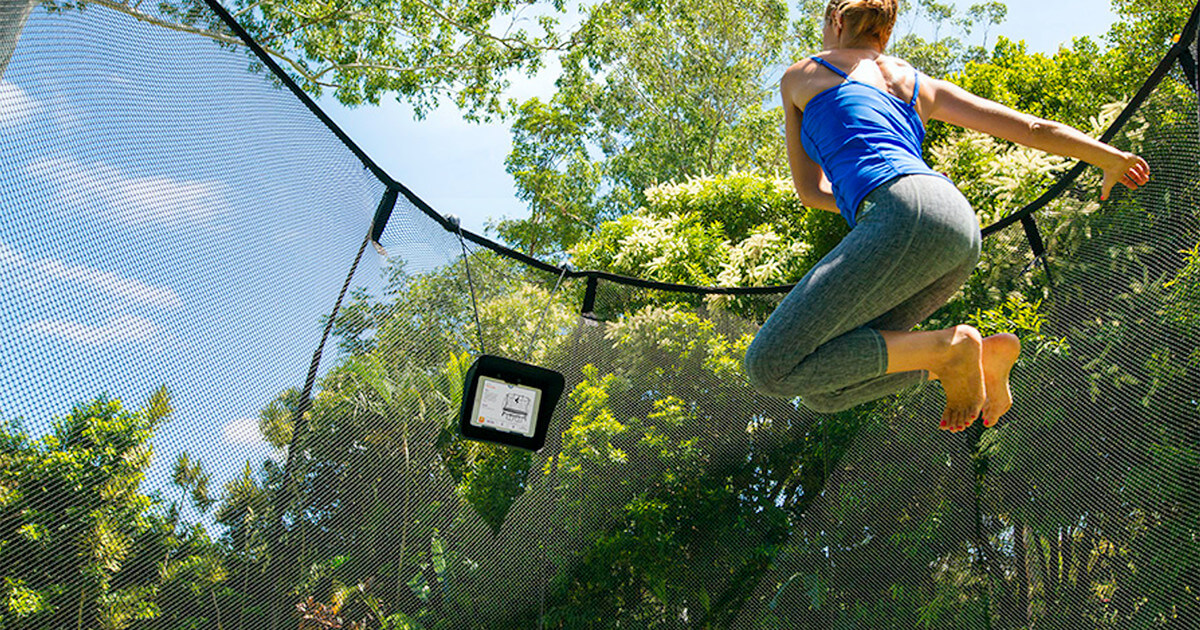 Trampoline fitness at home