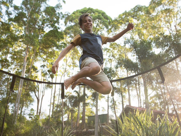 Trampoline healthy outdoor fun