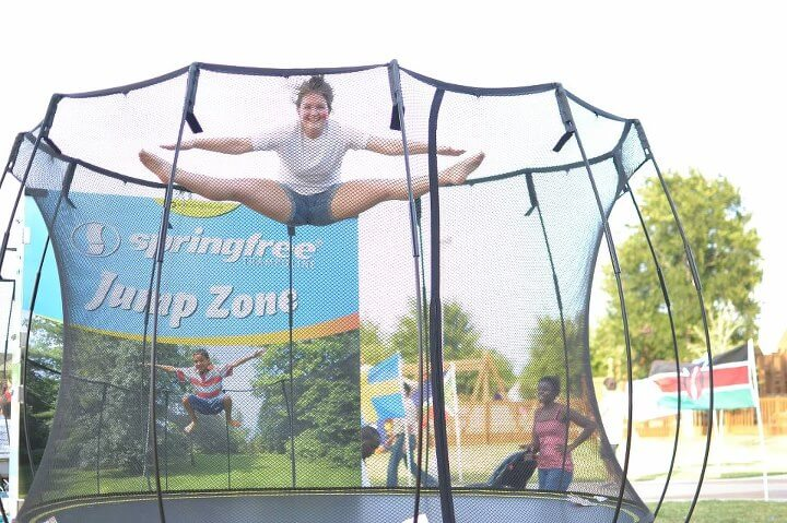 Springfree Trampoline at an Event