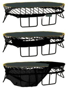 trampoline instructions with net