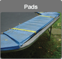 Traditional trampoline hard frame