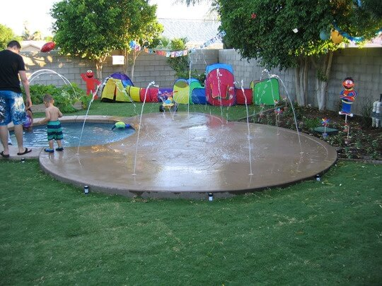 garden design with how do you landscape your backyard around your trampoline with home and garden - Garden Design With Trampoline