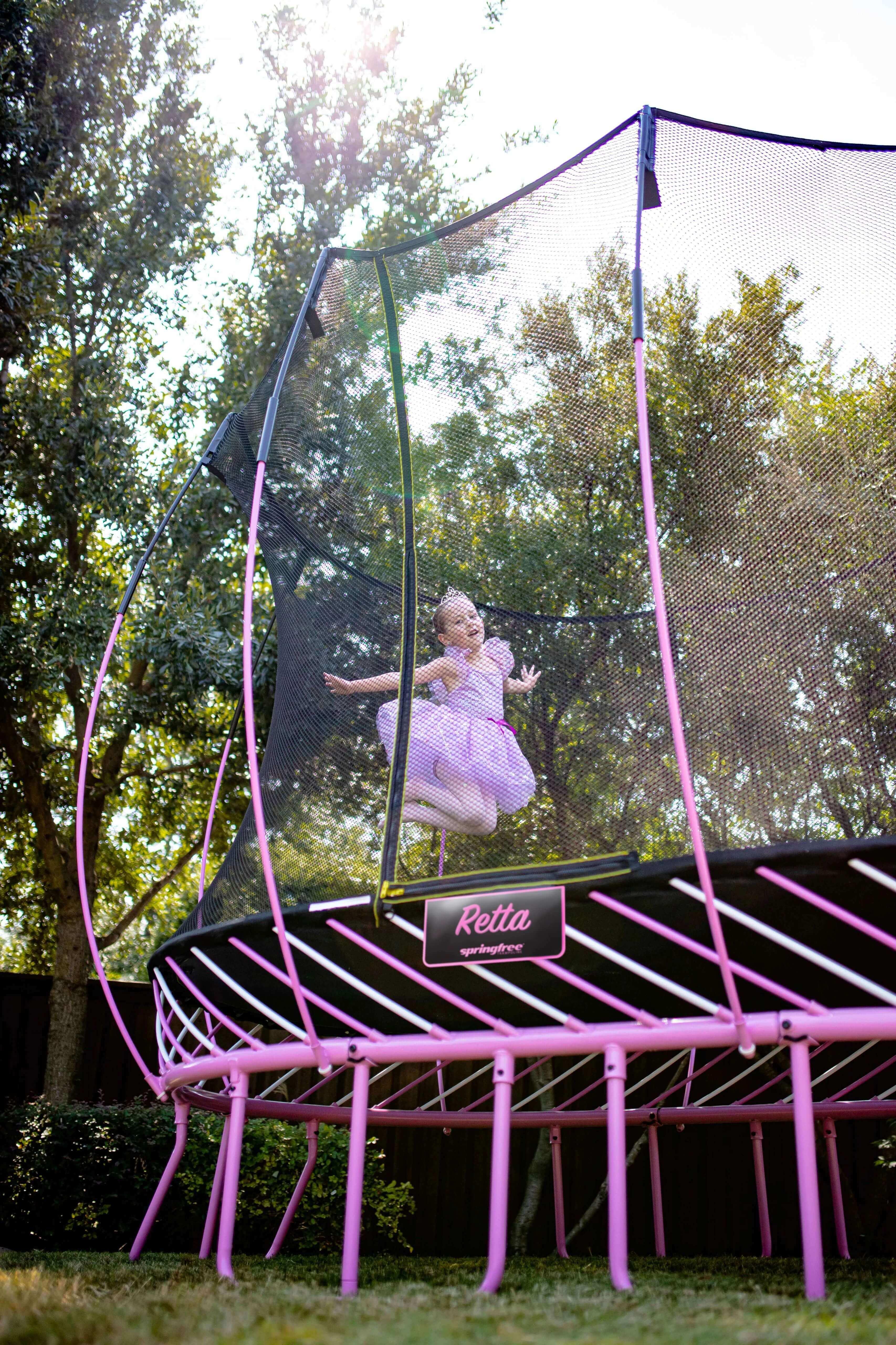 Springfree Trampoline custom pink