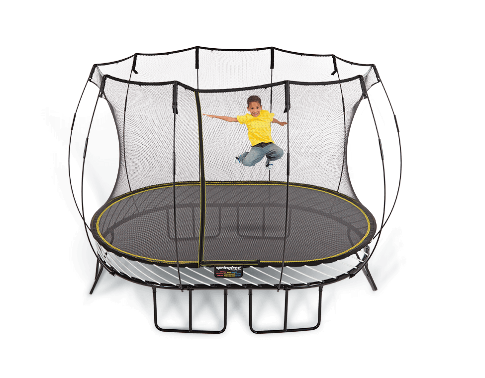 11ft Medium Oval Enclosed Springfree Trampoline