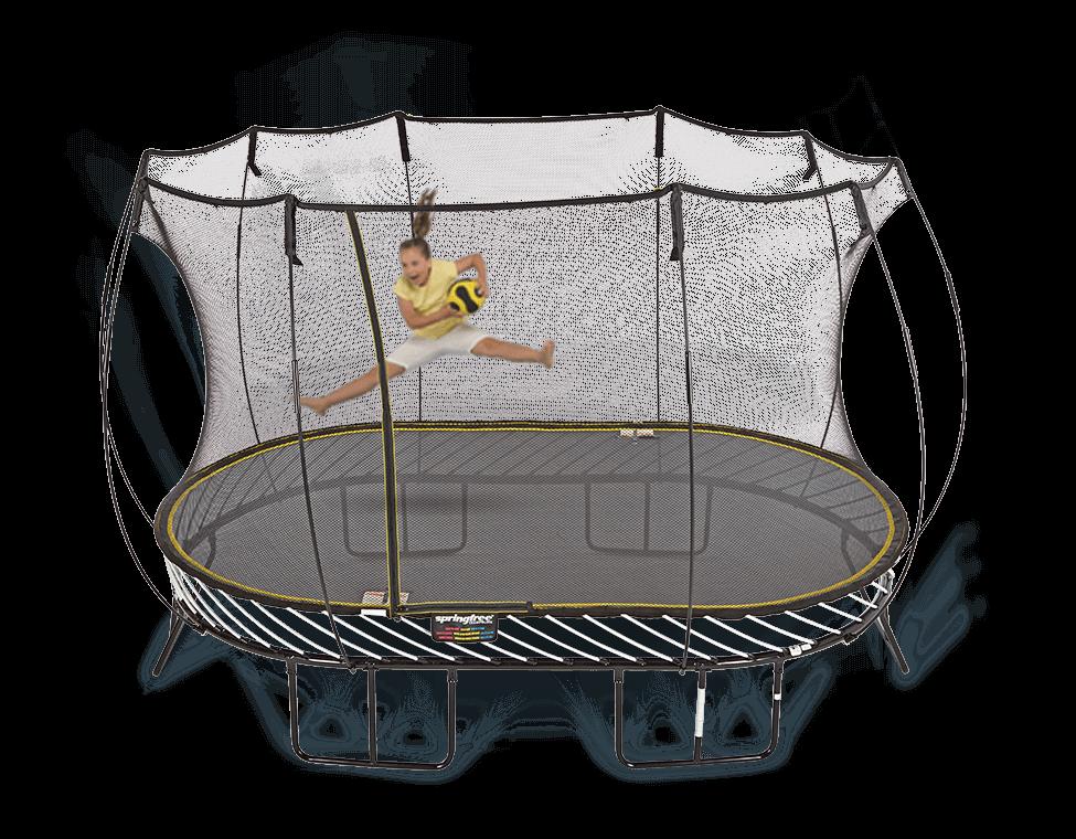 13ft x 8ft Springfree Trampoline & Safety Net Enclosure