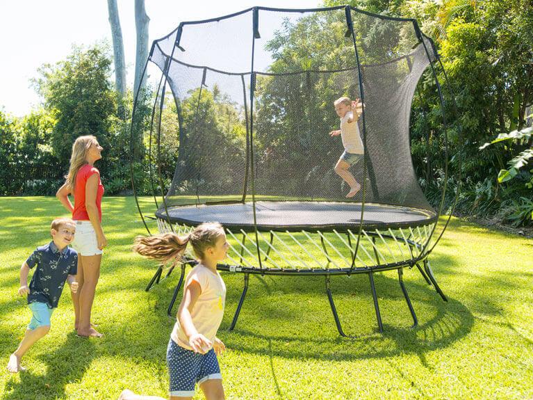 Trampoline safe outdoor fun