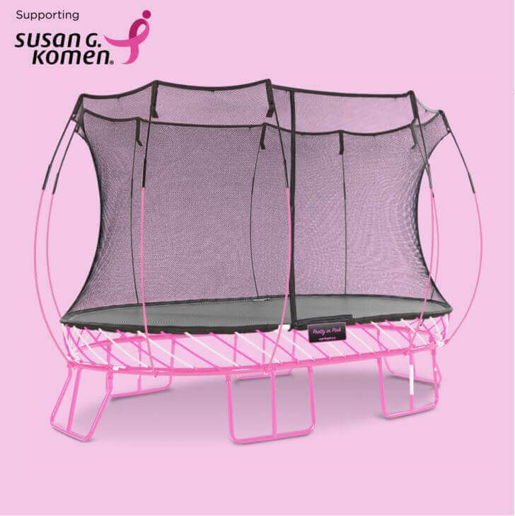Limited Edition Pink Springfree Trampoline