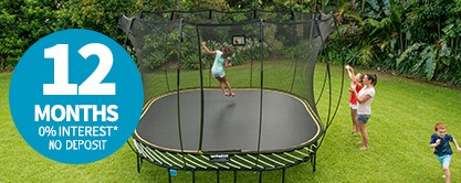 11ft medium oval enclosed springfree trampoline