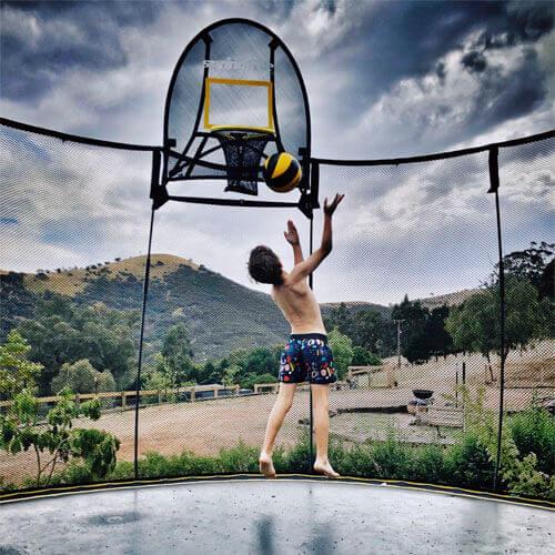 haus_of_boys enjoy playing on Springfree Trampoline