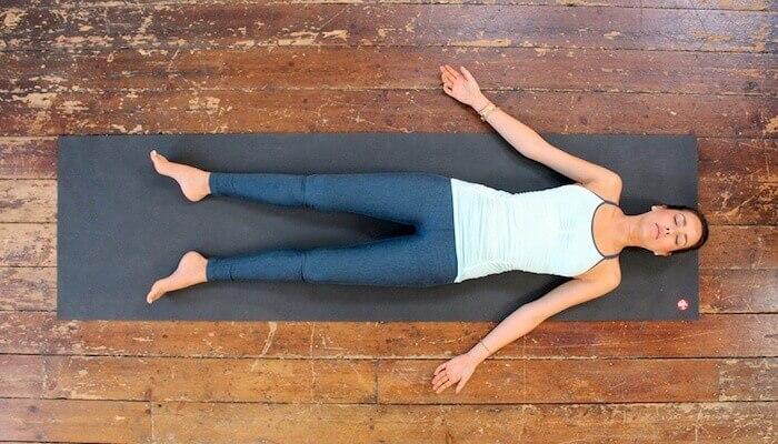 Yoga Savasana or Shavasana Pose