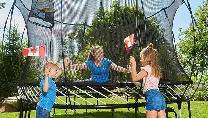 Springfree Trampoline backyard games canada athlete