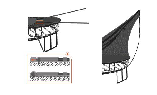 Assembling net rods