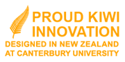 Proud Kiwi Innovation - Designed in New Zealand at Canterbury University