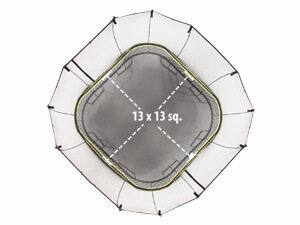 Size of trampoline mat